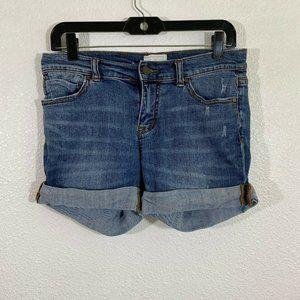 Caslon boyfriend roll up jean shorts